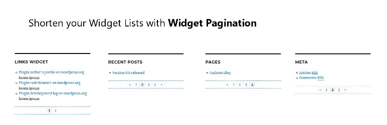Widget Pagination