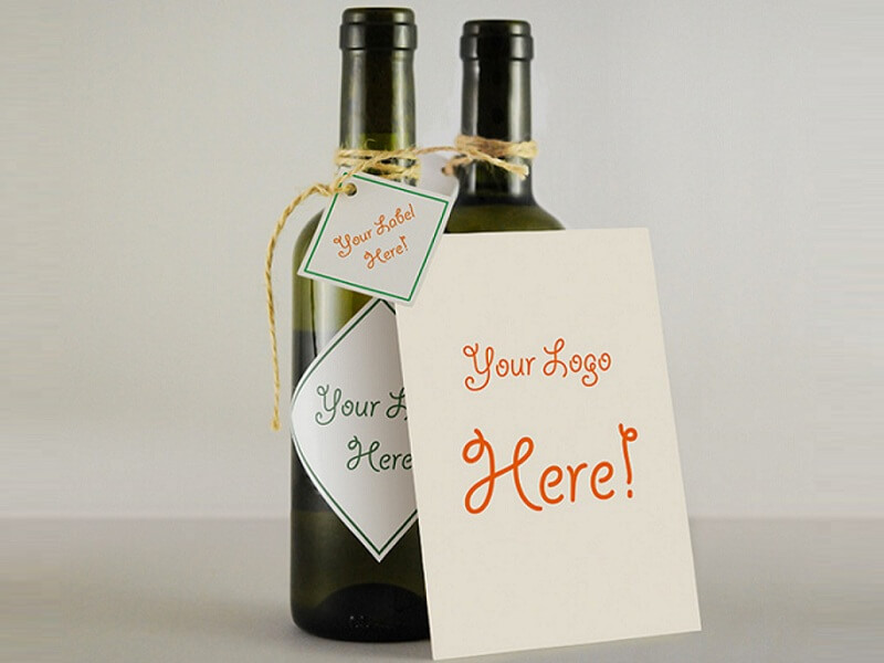 Wine Bottle And Greeting Card