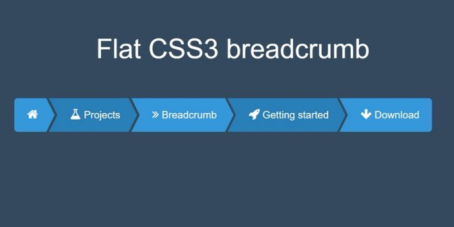 10+ Free Html CSS Breadcrumbs 2018 Free Download