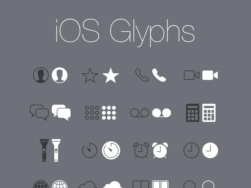 iOS Glyphs