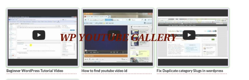 WP Youtube Gallery