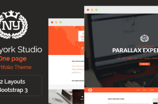 Parallax PSD Website Templates