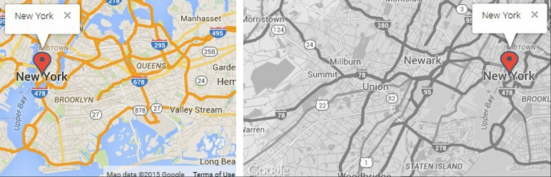 Responsive Styled Google Maps Simplified