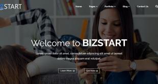 bizstart free wordpress theme