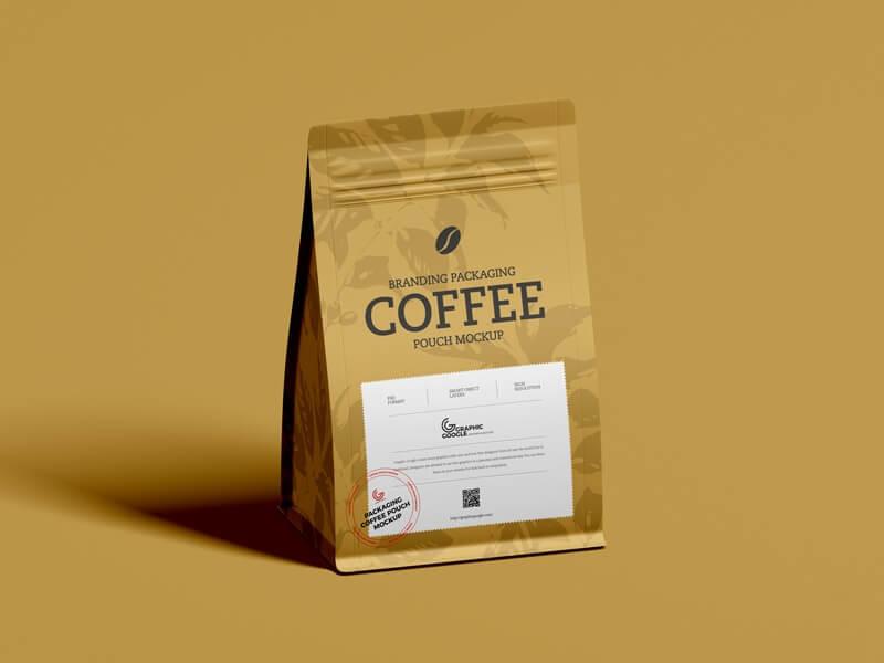 Coffee Branding Packaging Pouch Mockup