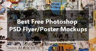 Free Photoshop PSD Flyer/Poster Mockups