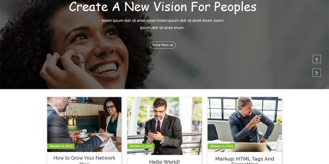 Bizstartup Free WordPress Theme