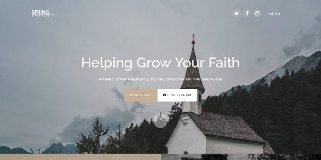 Best Free Church Html Website Templates 2019