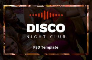 Night Club PSD Website Templates