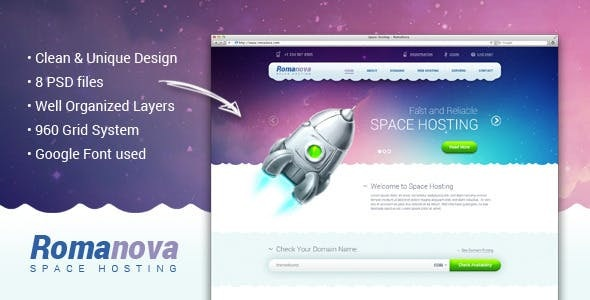 Hosting PSD Website Templates