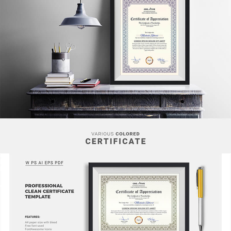 Corporate & Modern Word Multipurpose Certificate
