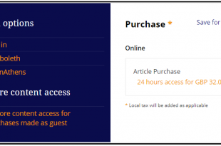 Purchase Article Online