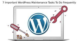 WordPress Maintenance Tasks