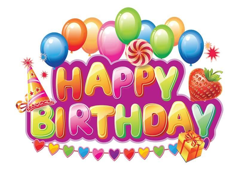 Decorative Happy Birthday Text