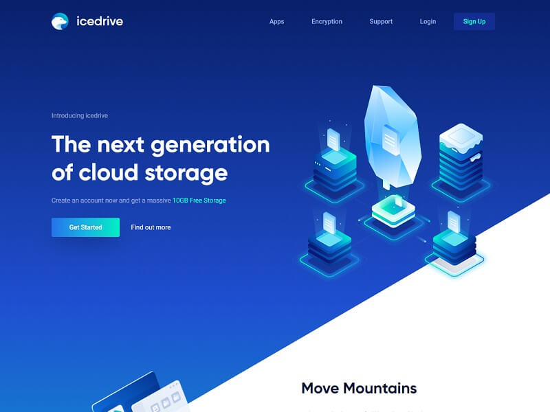 Icedrive - Free Online Storage Websites