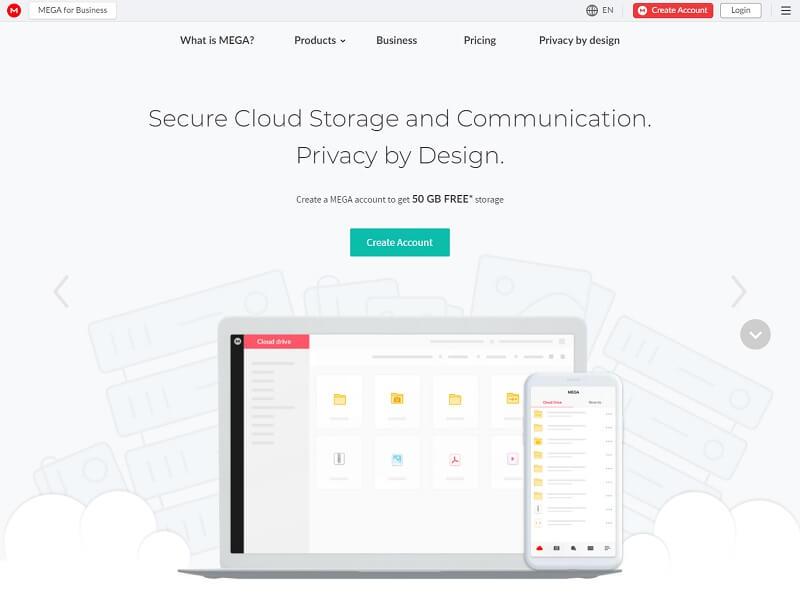 Mega - Free Online Storage Websites