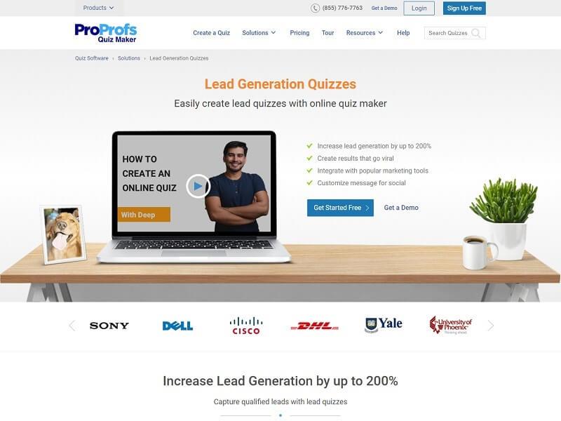 ProProfs Lead Quiz Software