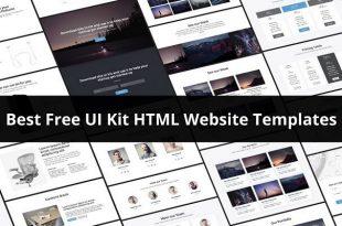 Free UI Kit HTML Website Templates