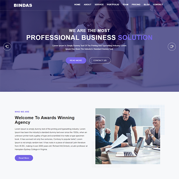 Consulting Business Website Template